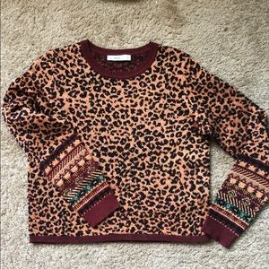 Animal print knitted sweater
